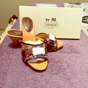 Brand new.Never worn. Authentic Coach sandals.